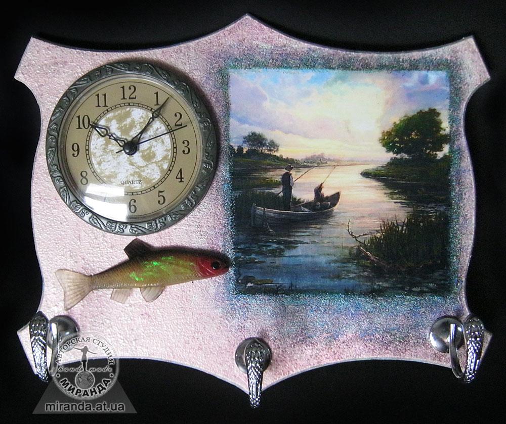Подарок для рыбака часы 16